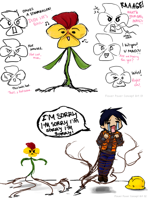 BCW: Early Flower Power Doodles